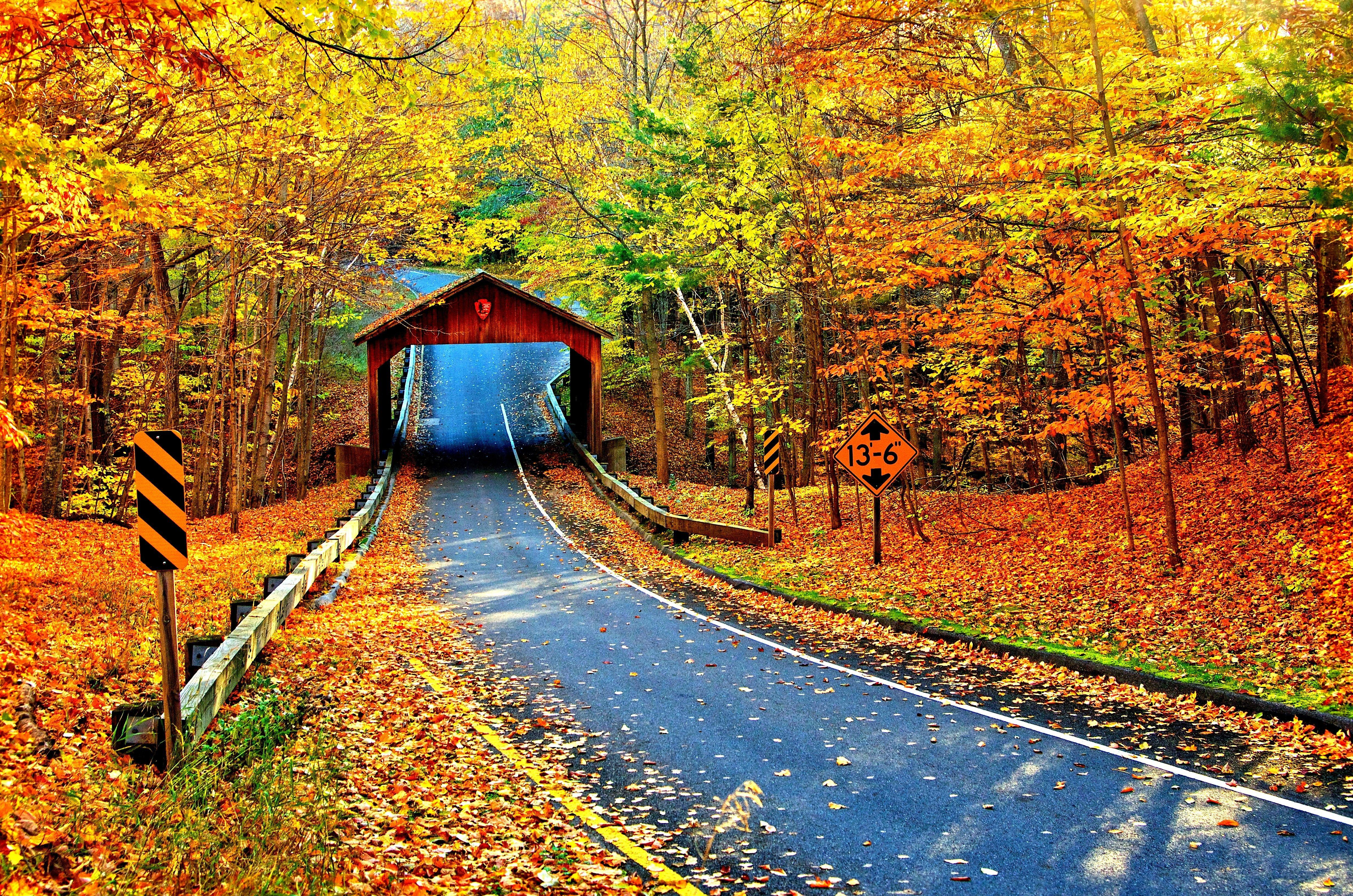 10 Covered Bridge HD Wallpapers