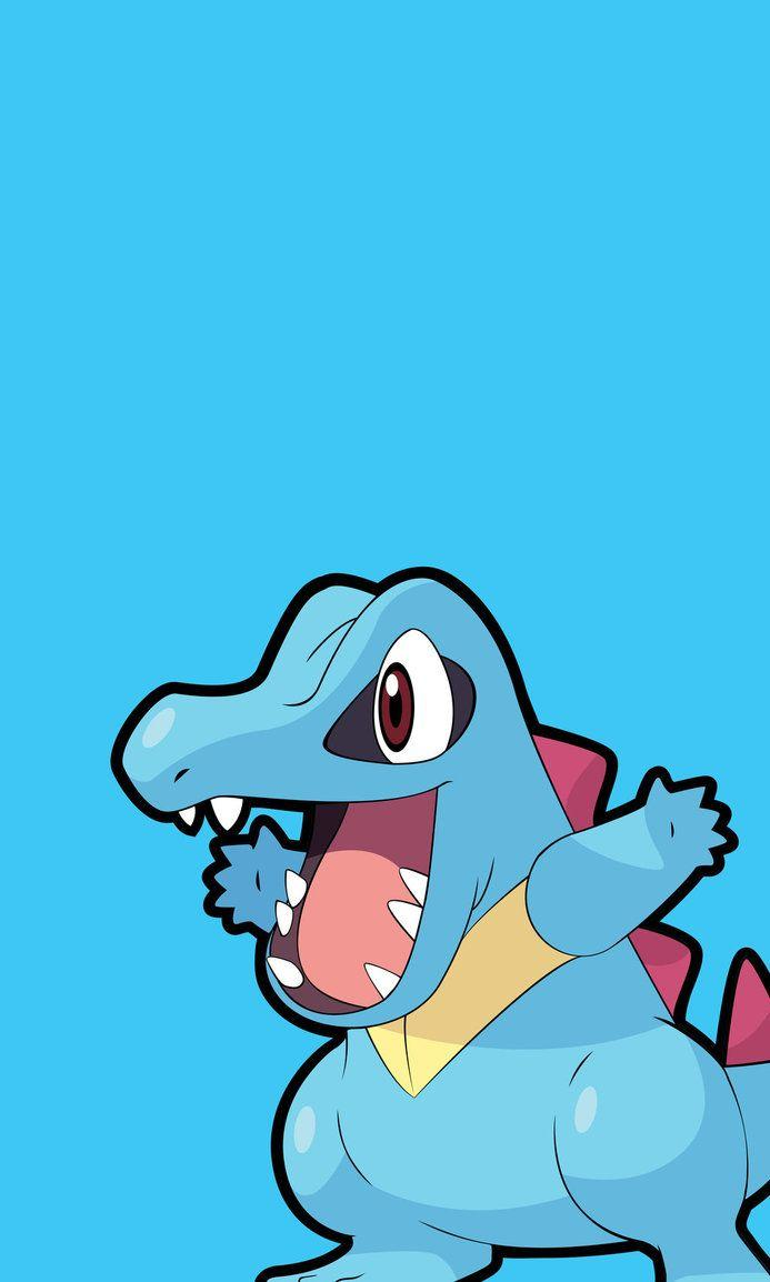 PKMN Phone Wallpaper - Totodile by Neolink07 on DeviantArt