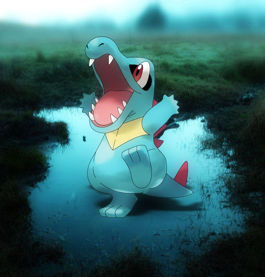 totodile in swamp by magicalyuki on DeviantArt