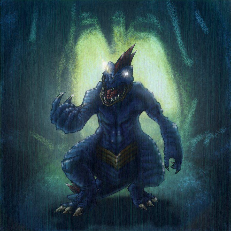 Angry Feraligatr in wet cavern by ForeverZeroDragon