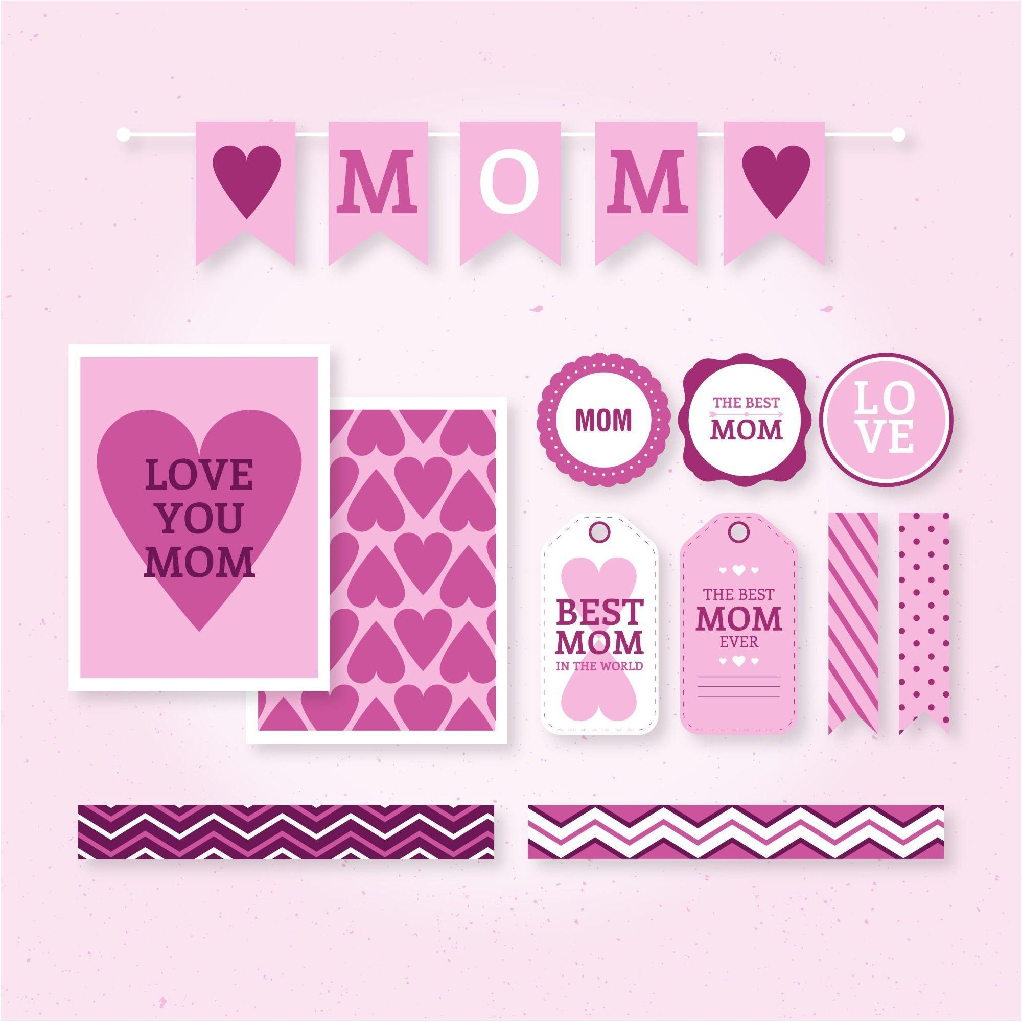 Love Happy Mother Day Vector & Wallpaper background | 500 Best ...