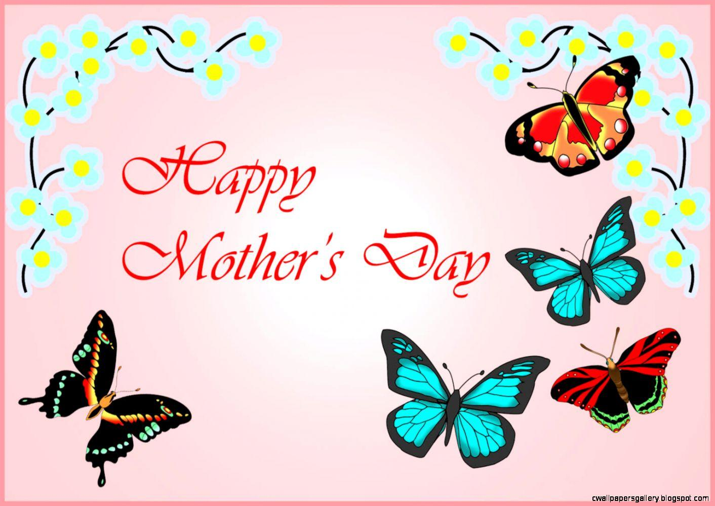 Pictures Of Flowers And Butterflies For Mothers Day | Wallpapers ...