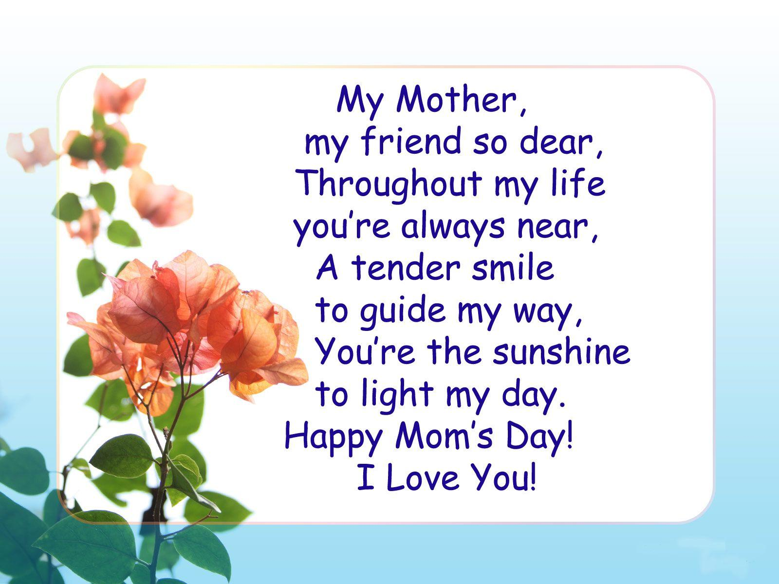 mothers day - Google Search | Poams for home made cards ...