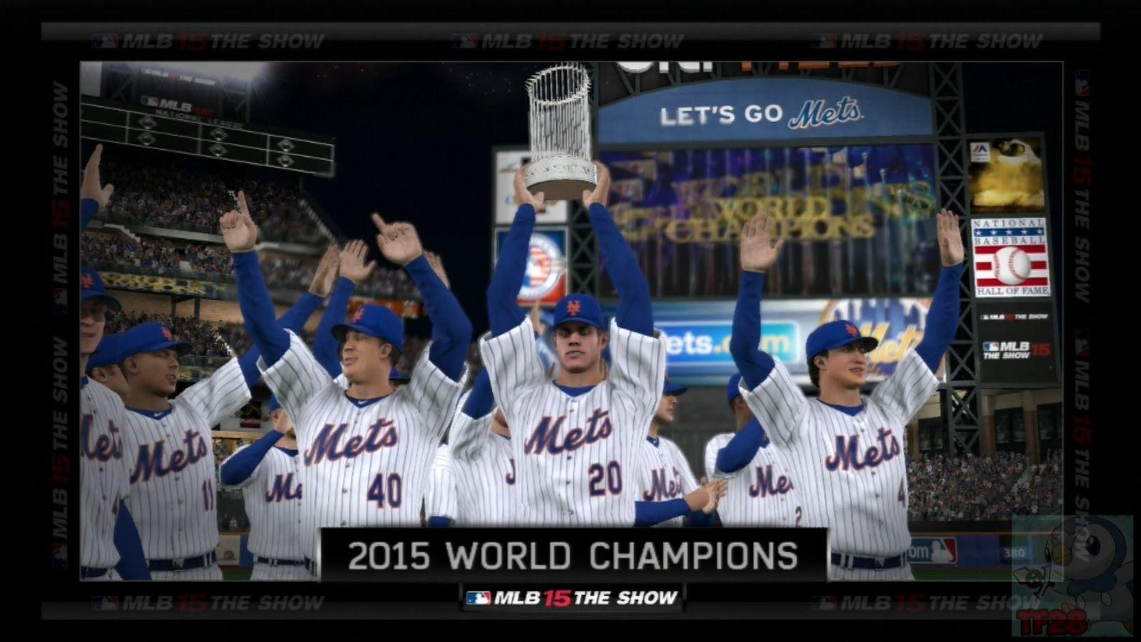 MLB 15 The Show - New York Mets World Series Celebration - YouTube