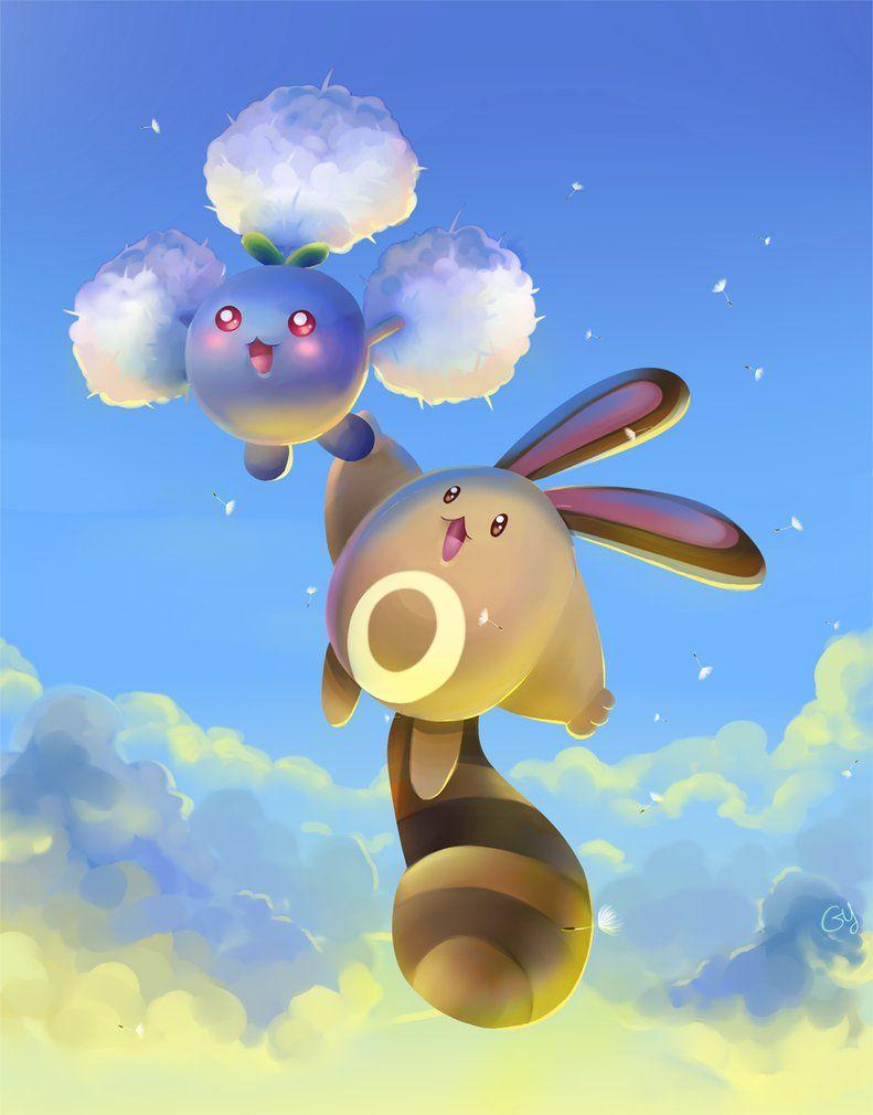 Jumpluff and Sentret by Gy-Menulis on DeviantArt