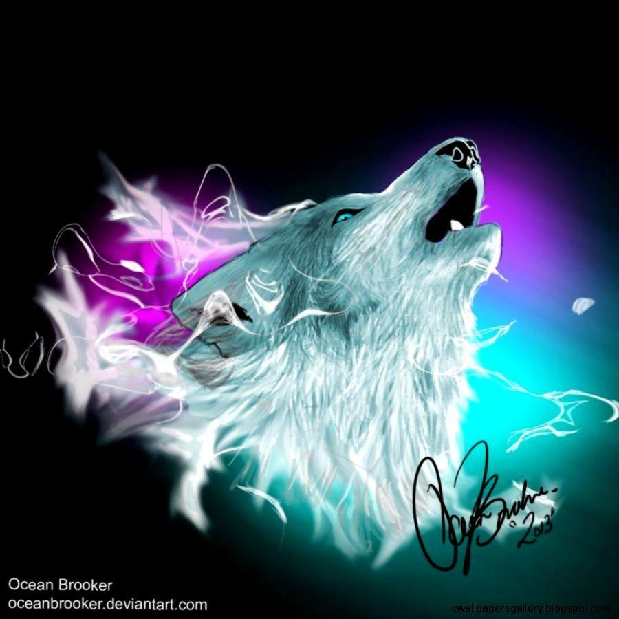 Northern Lights Wolf Wallpapers