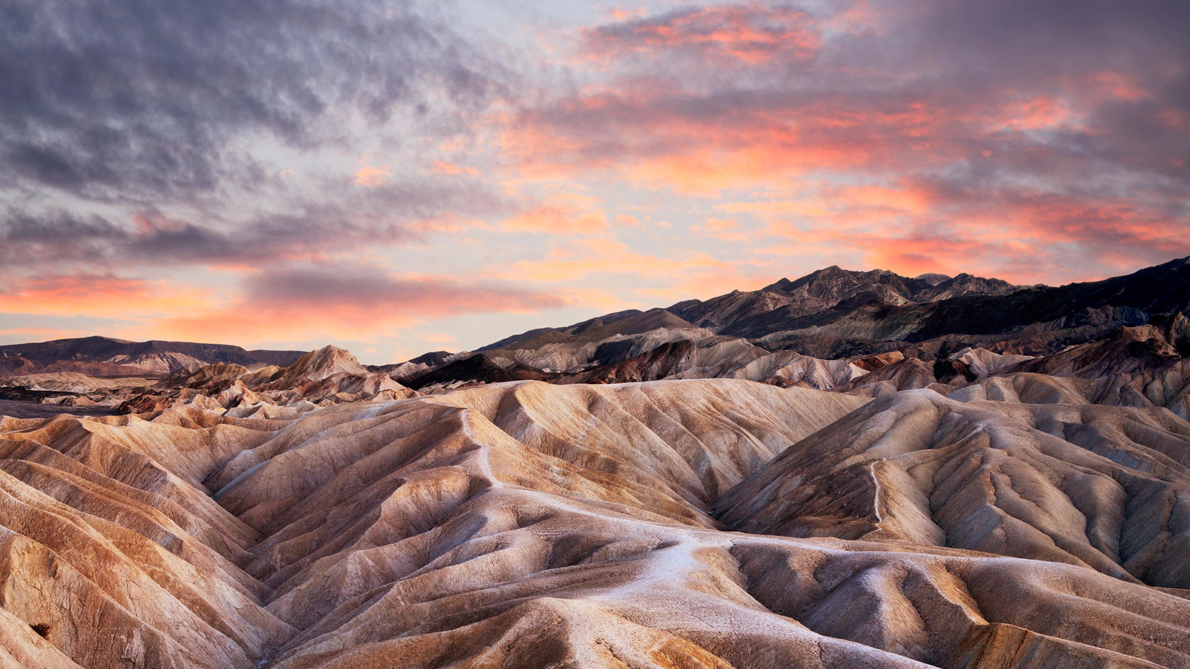 Landscape From Zabriskie Point At Death Valley National Park