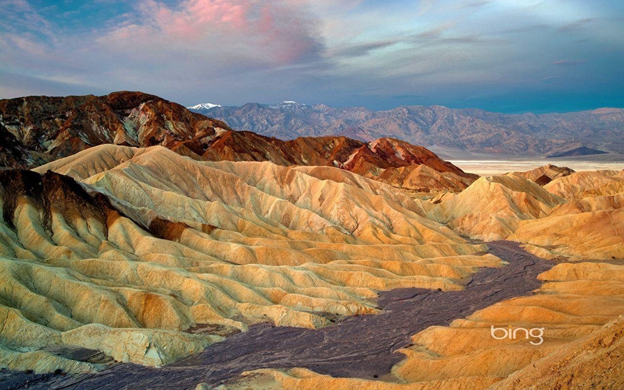 Photos Nature California USA Death Valley National Park Zabriskie