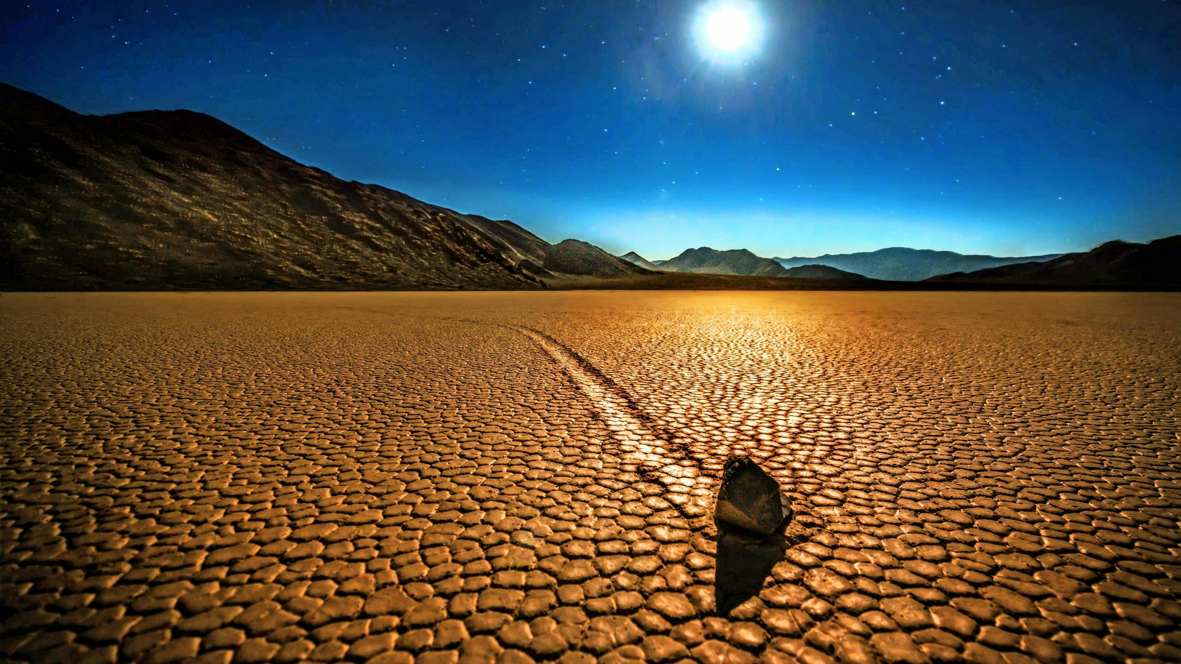 Sailing Stones In The Racetrack Playa, Death Valley National Park