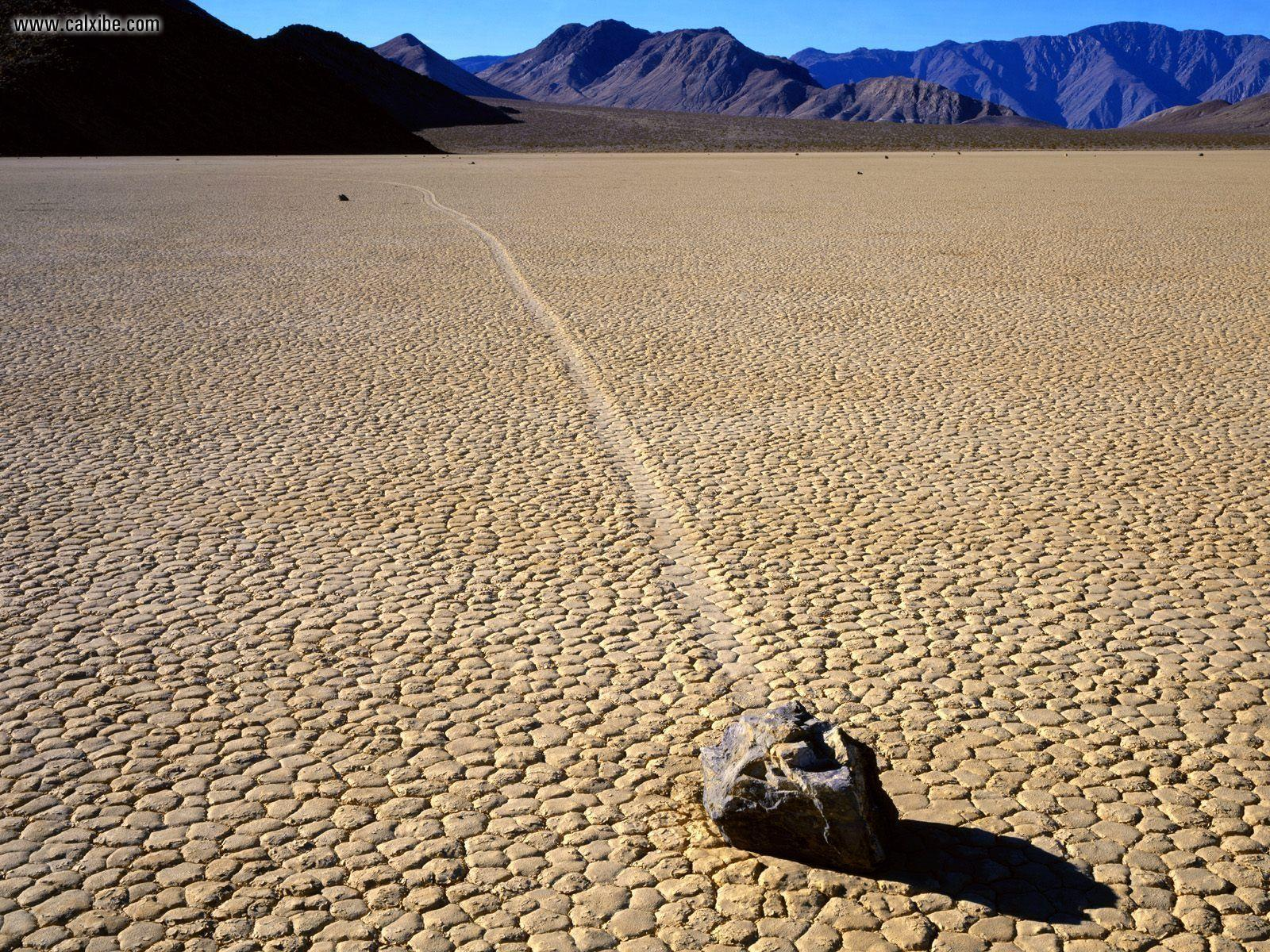 Nature: Mysterious Sliding Rock At The Racetrack Death Valley