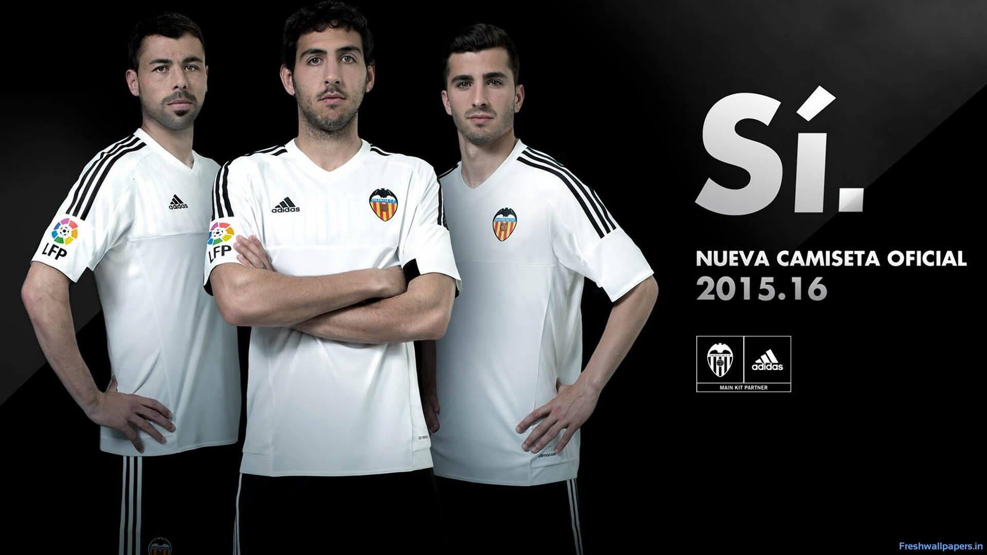 Valencia CF 2015-2016 Adidas Home Kit wallpapers