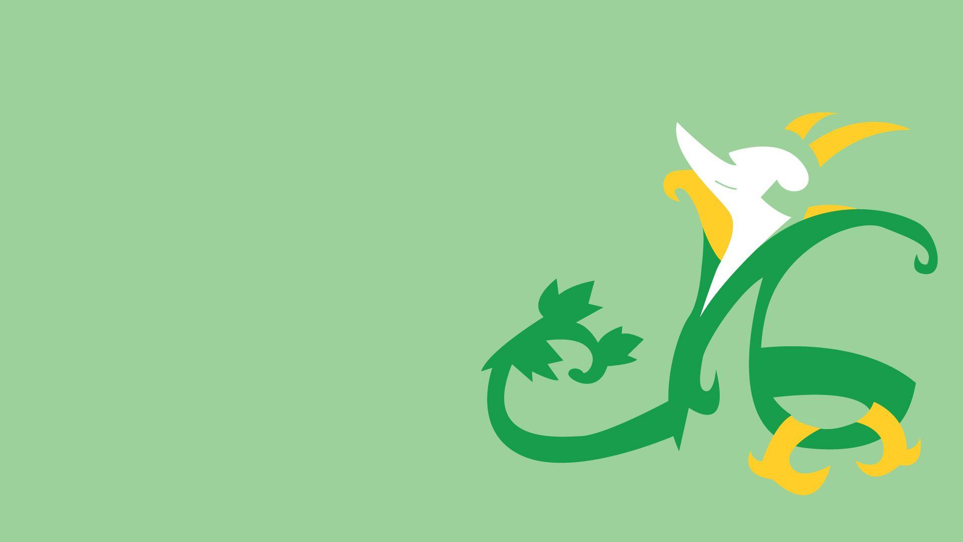 Serperior, Minimalism, Green Backgrounds wallpapers