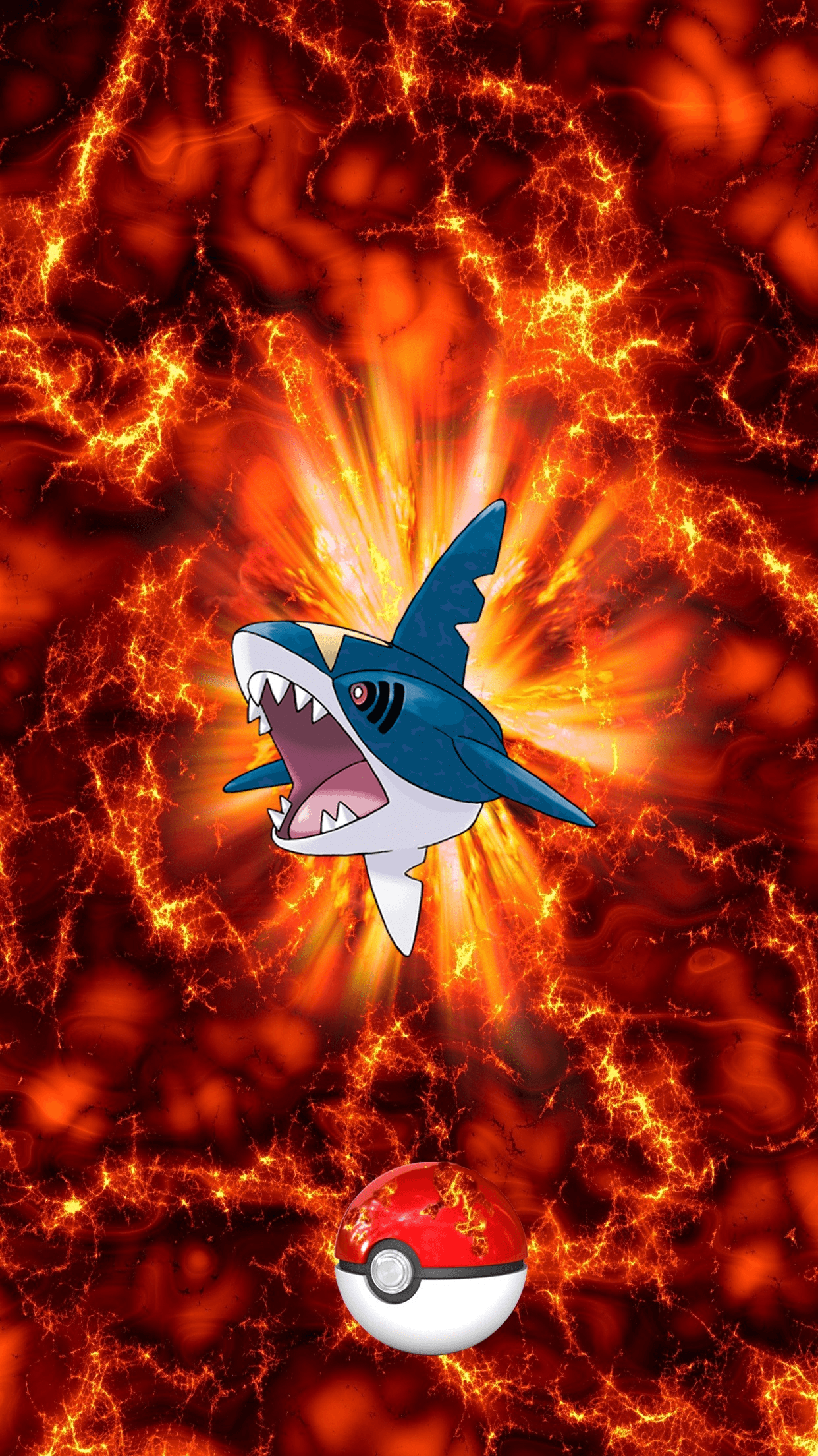 319 Fire Pokeball Sharpedo Samehader 9 Carvanha