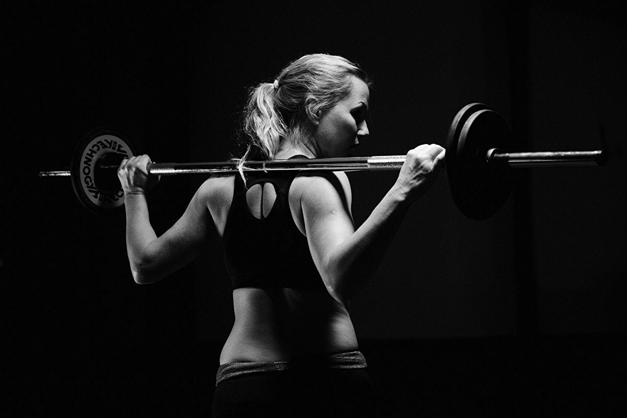 Fitness Human back Girls Sport Barbell