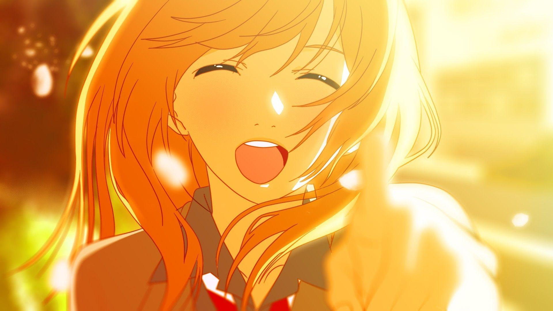 Wallpapers : illustration, blonde, anime girls, yellow, school