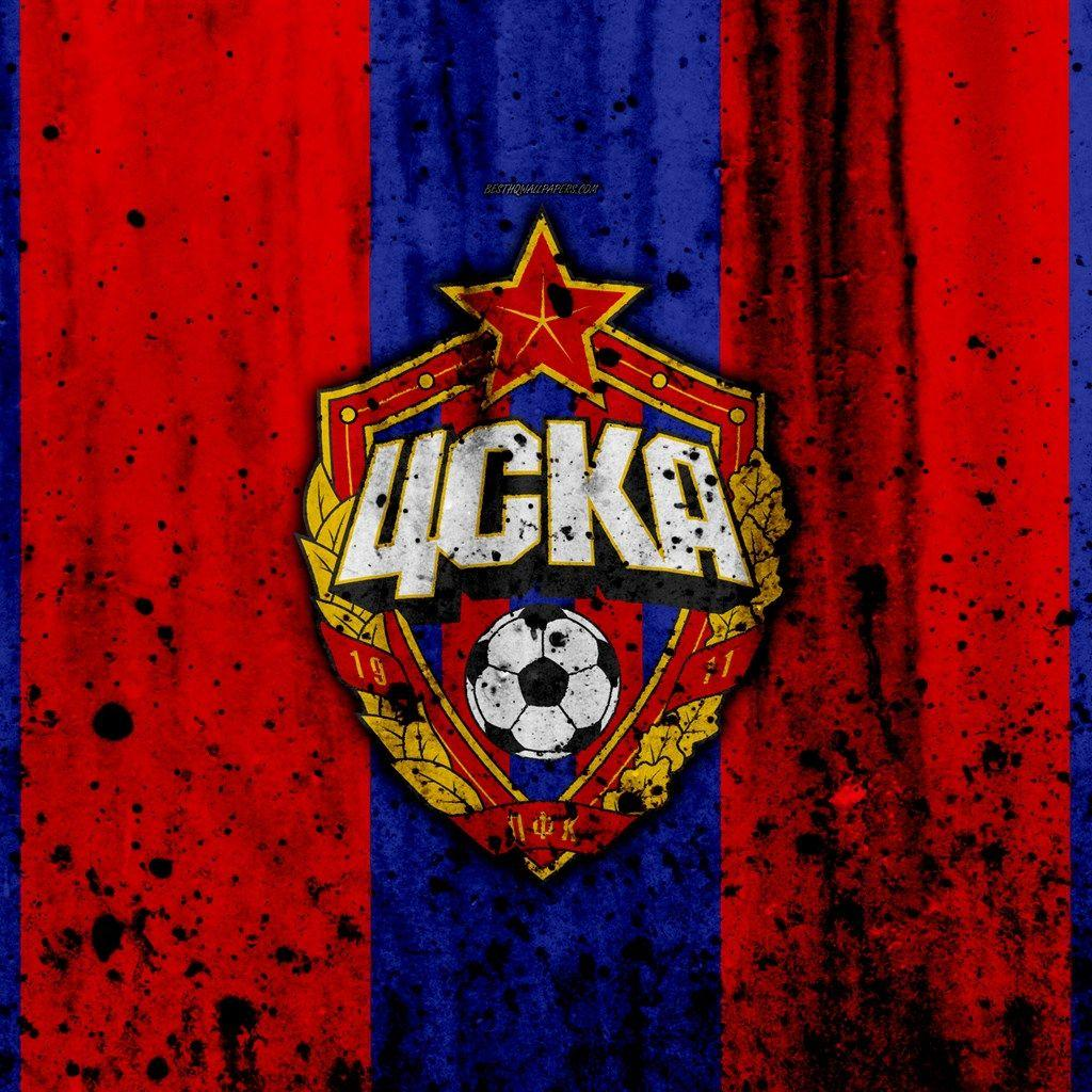 Download wallpapers 4k, FC CSKA Moscow, grunge, Russian Premier