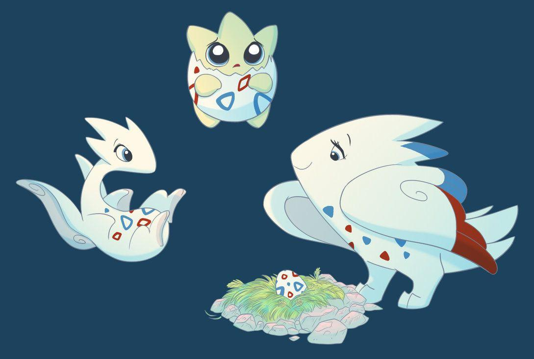 Togepi, Togetic, Togekiss by ThisCrispyKat on DeviantArt