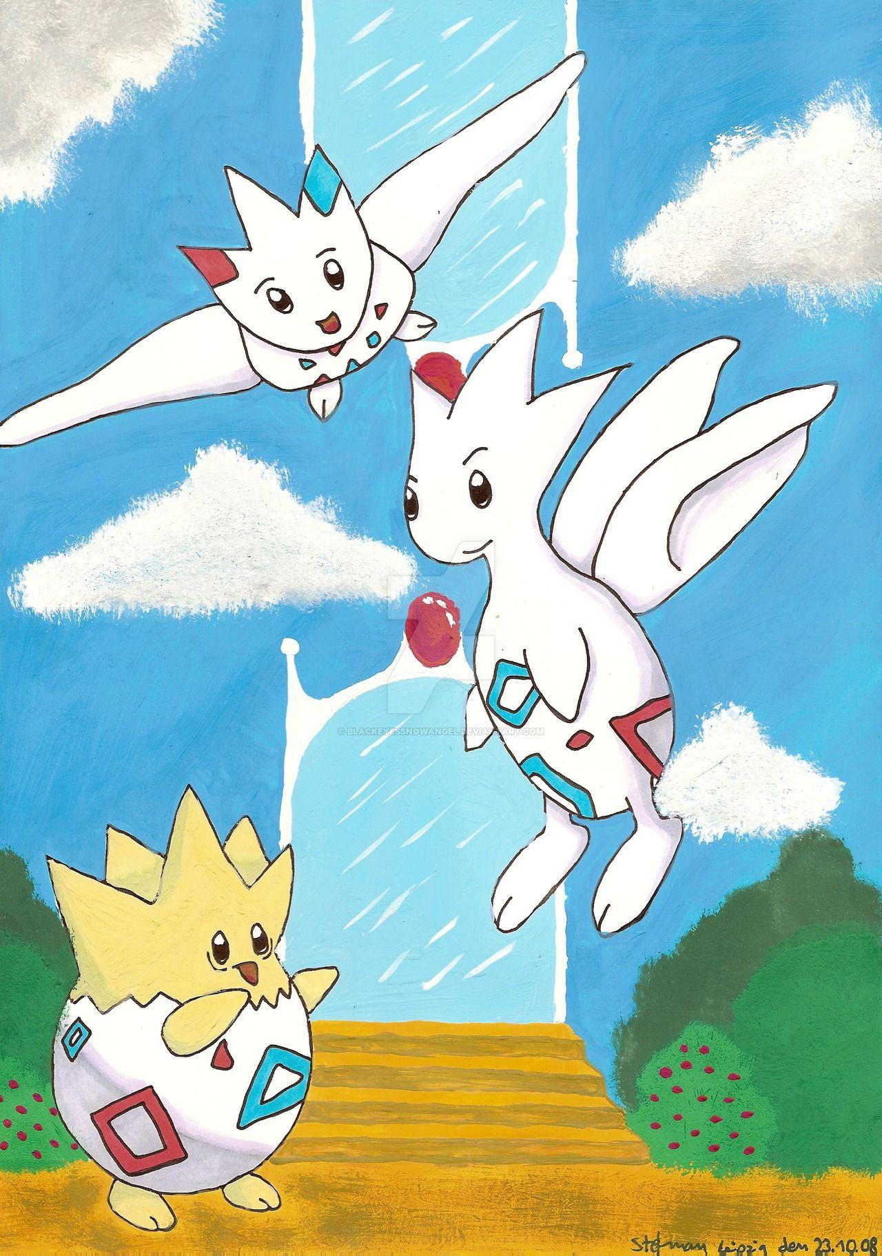 Togepi, Togetic and Togekiss by BlackEyesSnowAngel on DeviantArt