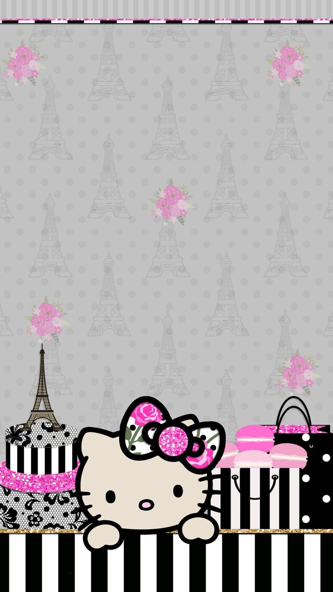 Rose Gold Wallpaper Hello Kitty Background