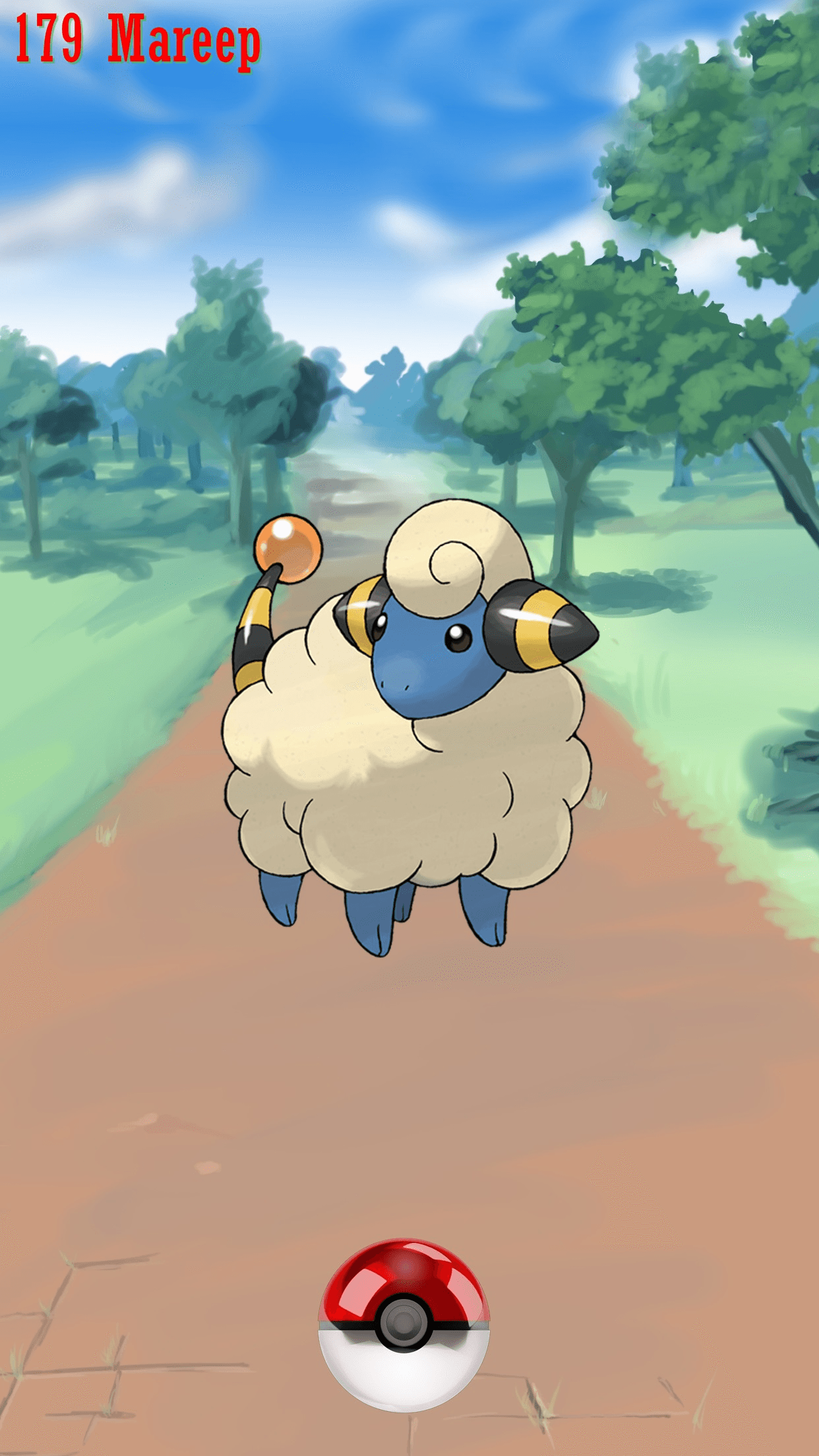 179 Street Pokeball Mareep | Wallpaper