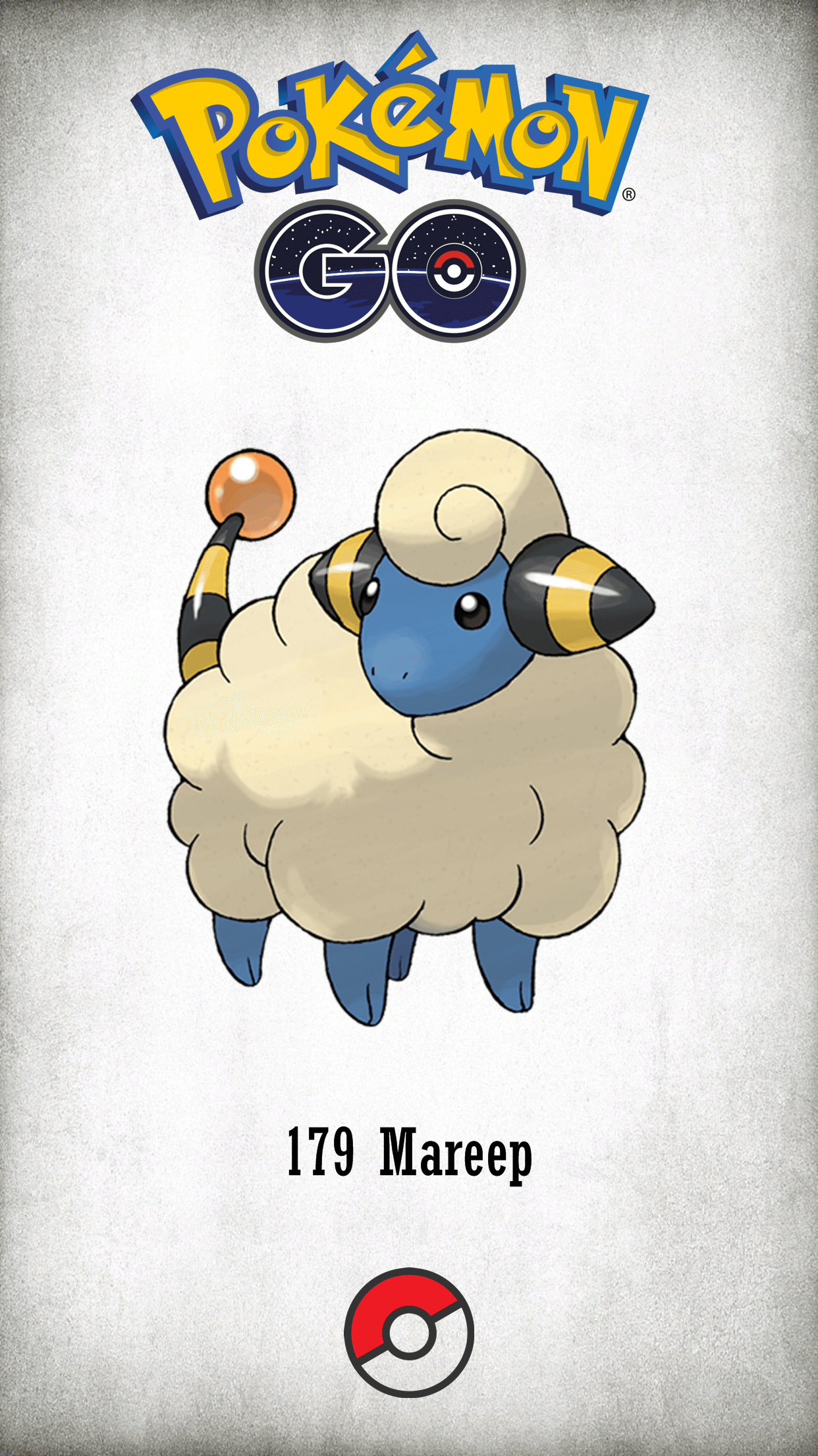 179 Character Mareep | Wallpaper