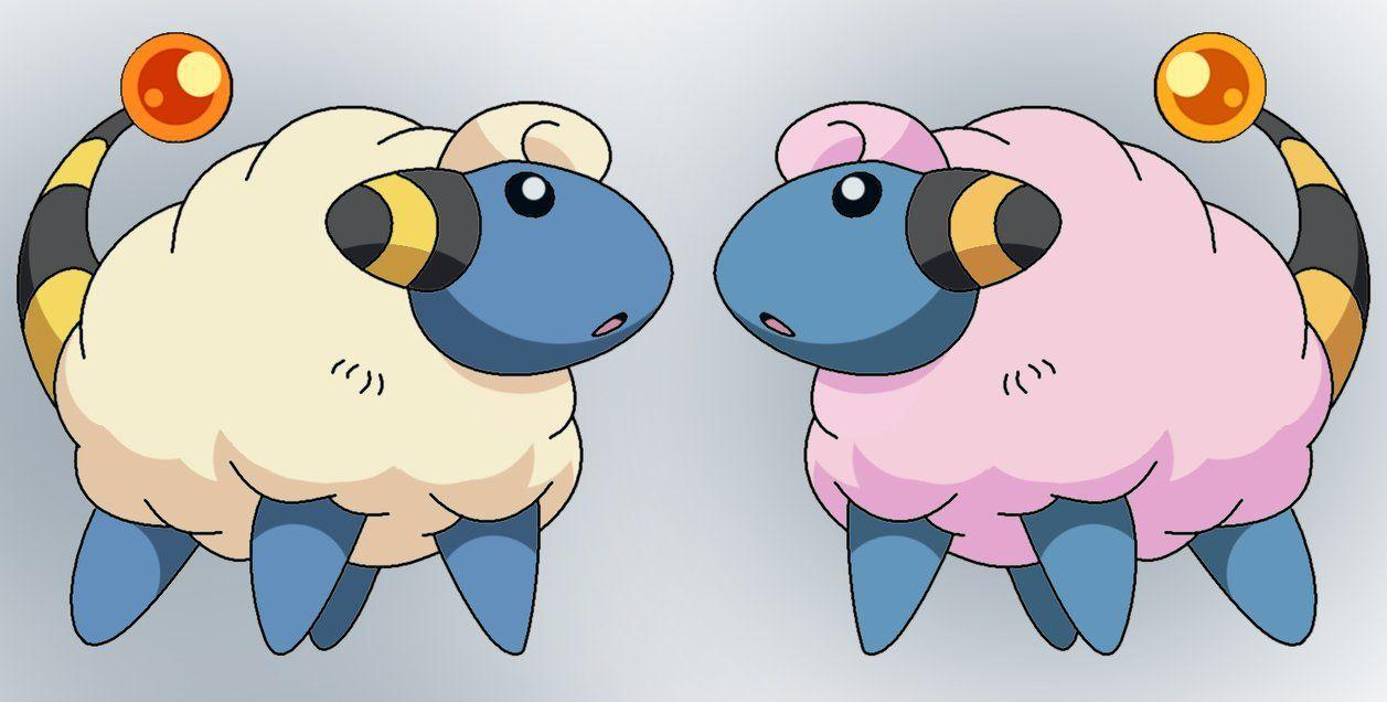 Mareep shiny reflection by Thunderwest on DeviantArt