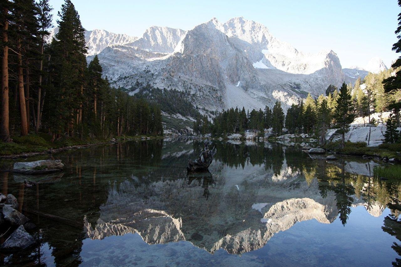 Wallpapers Lake Reflection Sequoia National Park & Kings Canyon