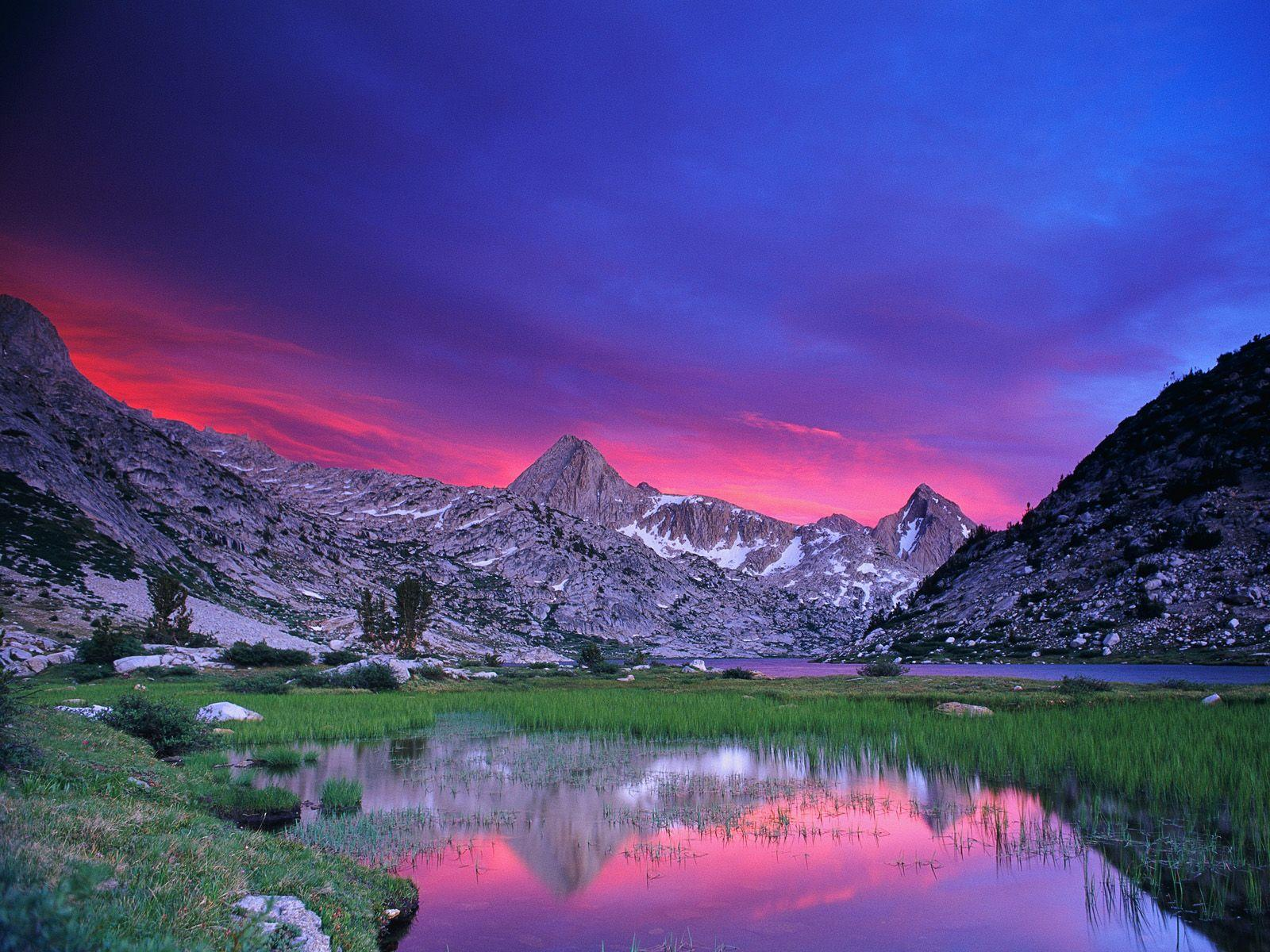 Sunset Over Evolution Lake, Kings Canyon National Park, California