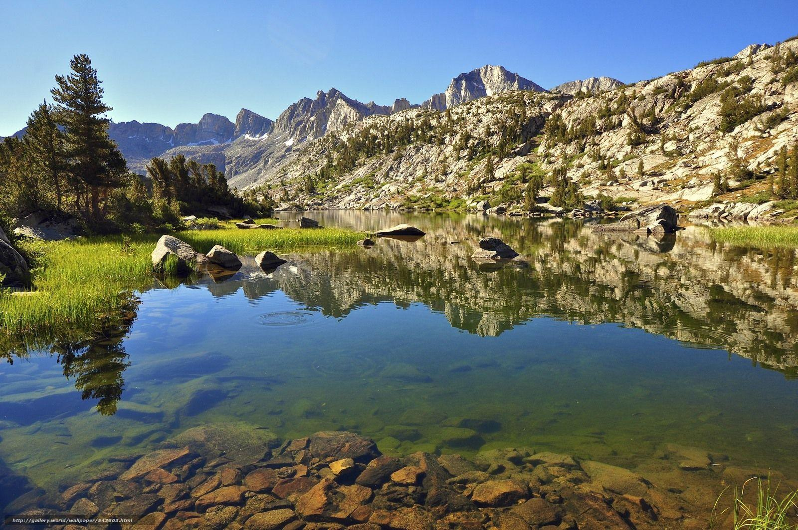 Download wallpapers Unnamed Lake, Dusy Basin, Kings Canyon National