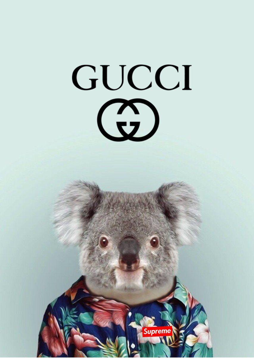 iphone wallpapers on Twitter: Gucci x supreme wallpapers