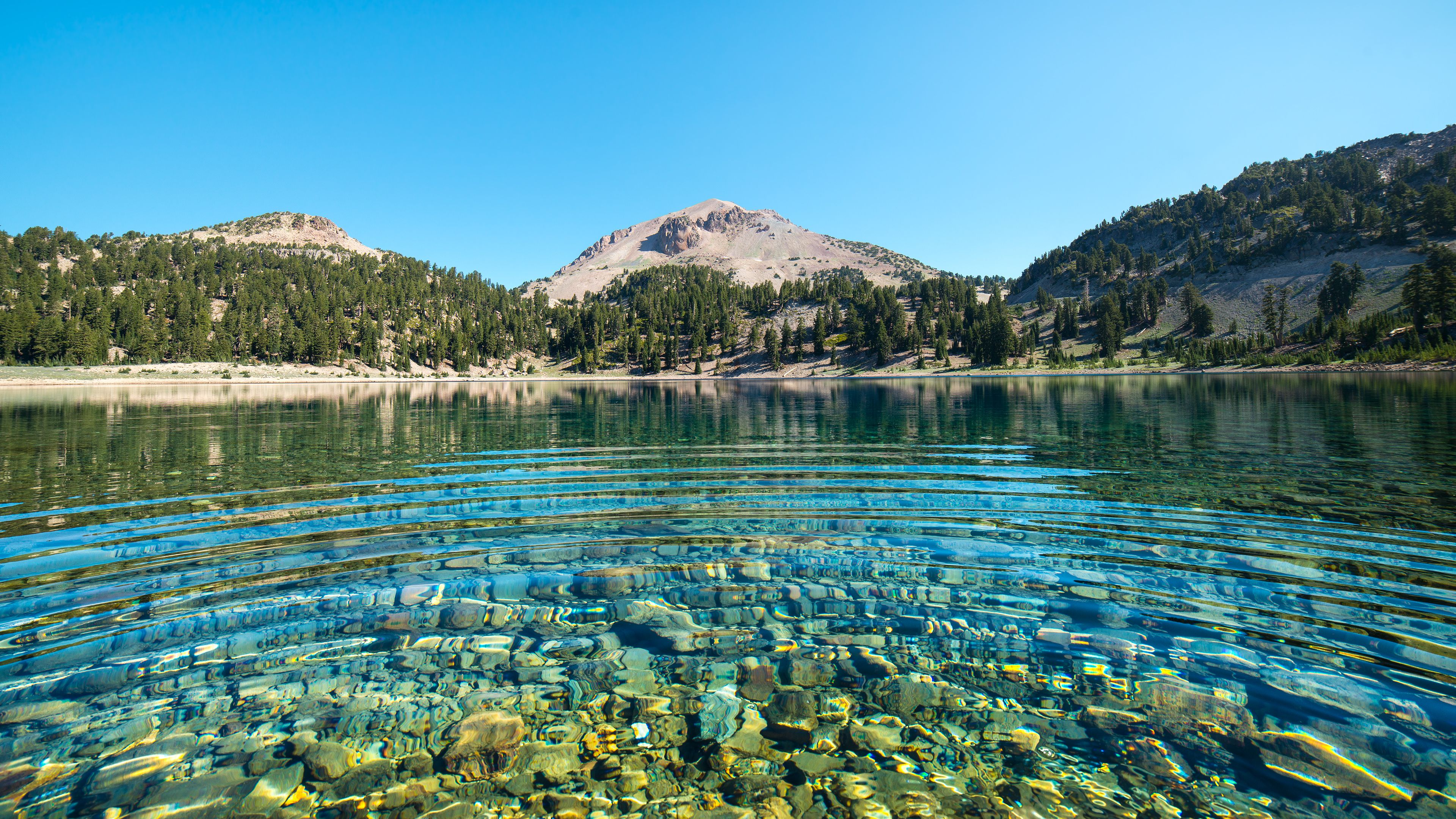 California Landscapes Lassen Volcanic National Park Nature Water ...