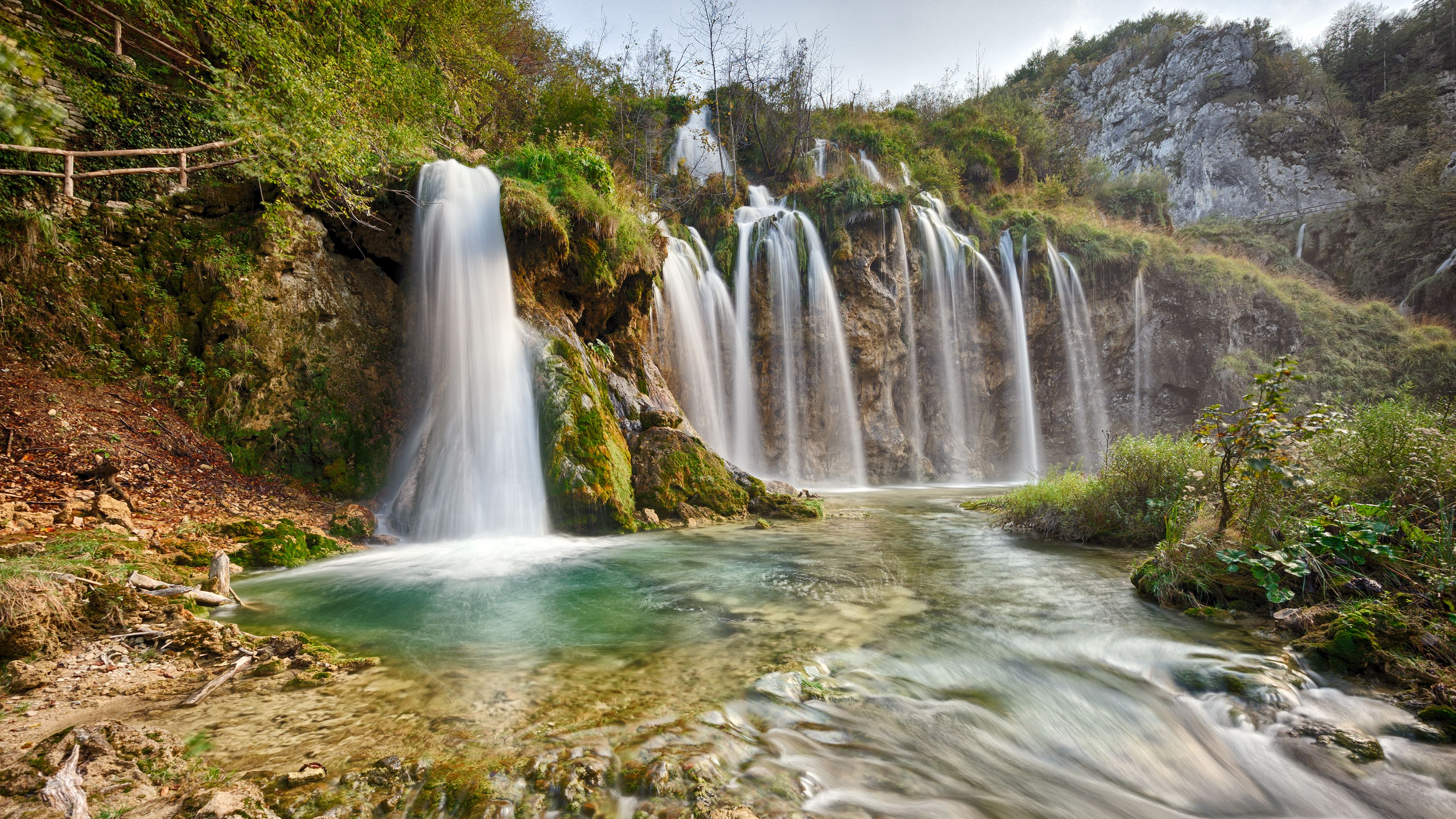 Nature Landscapes Plitvice Lakes National Park Water Waterfalls ...