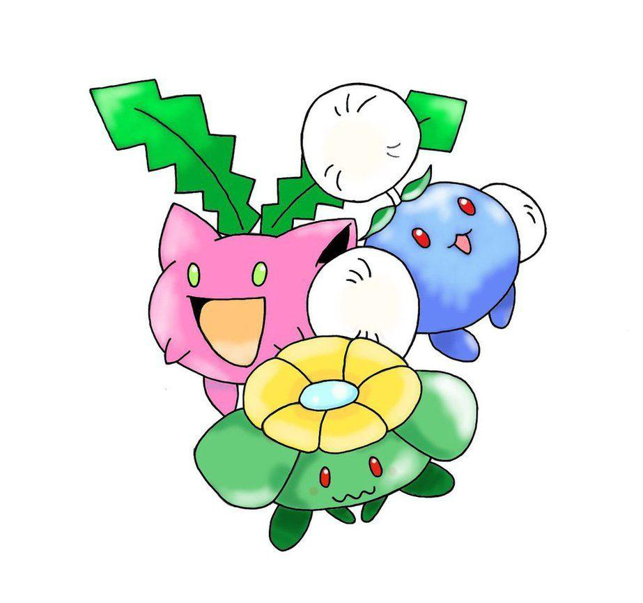 Hoppip, Skiploom and Jumpluff by Leehaa on DeviantArt