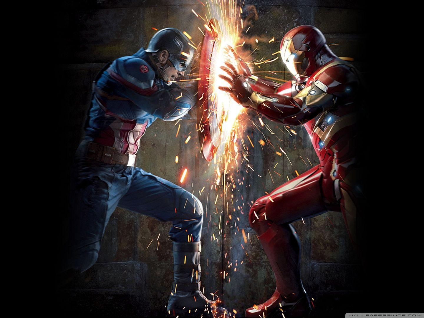 Iron man vs captain america wallpapers wallpaper cave - Best war wallpapers hd ...