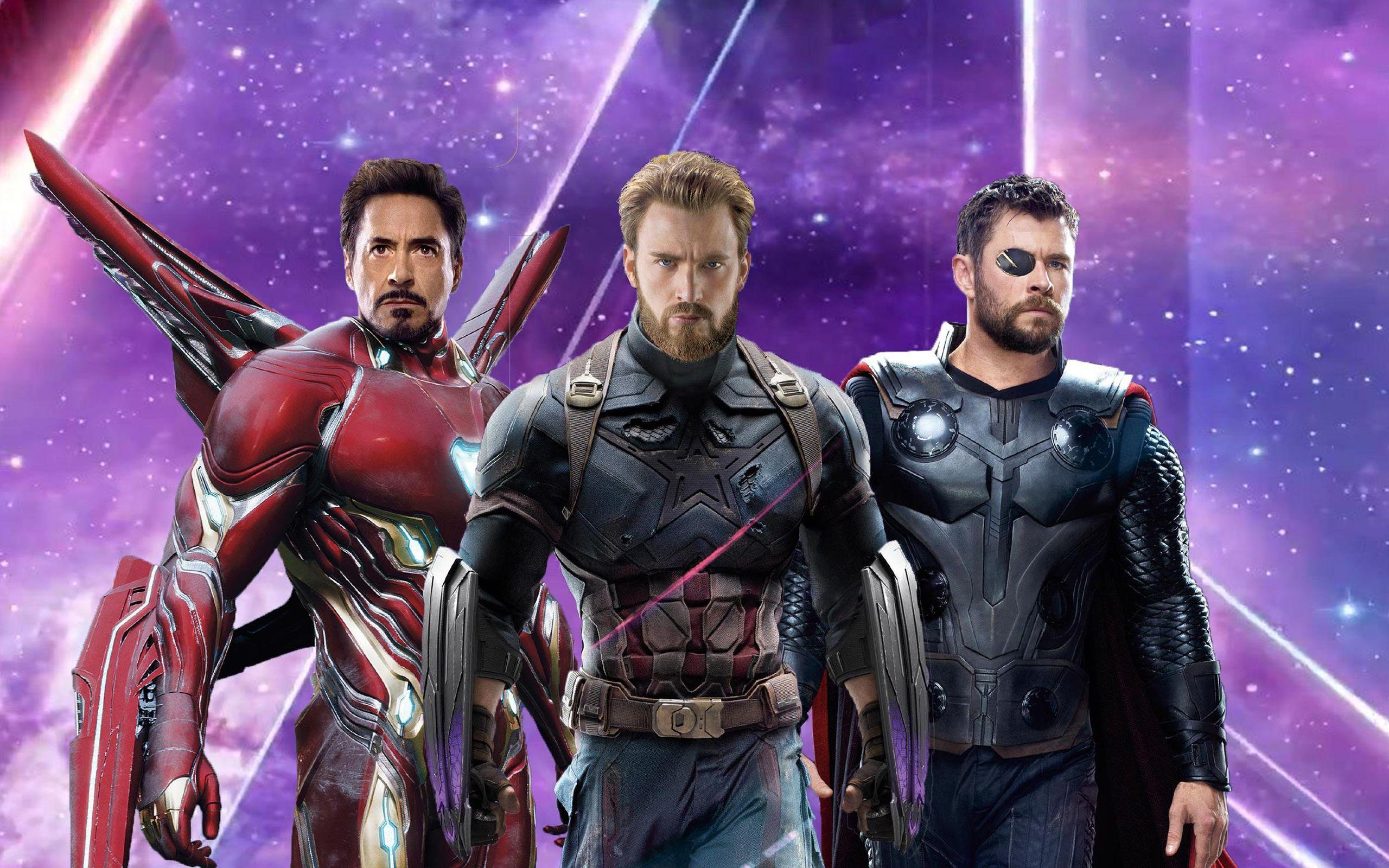Iron Man Captain America Thor in Avengers Infinity War Wallpapers .