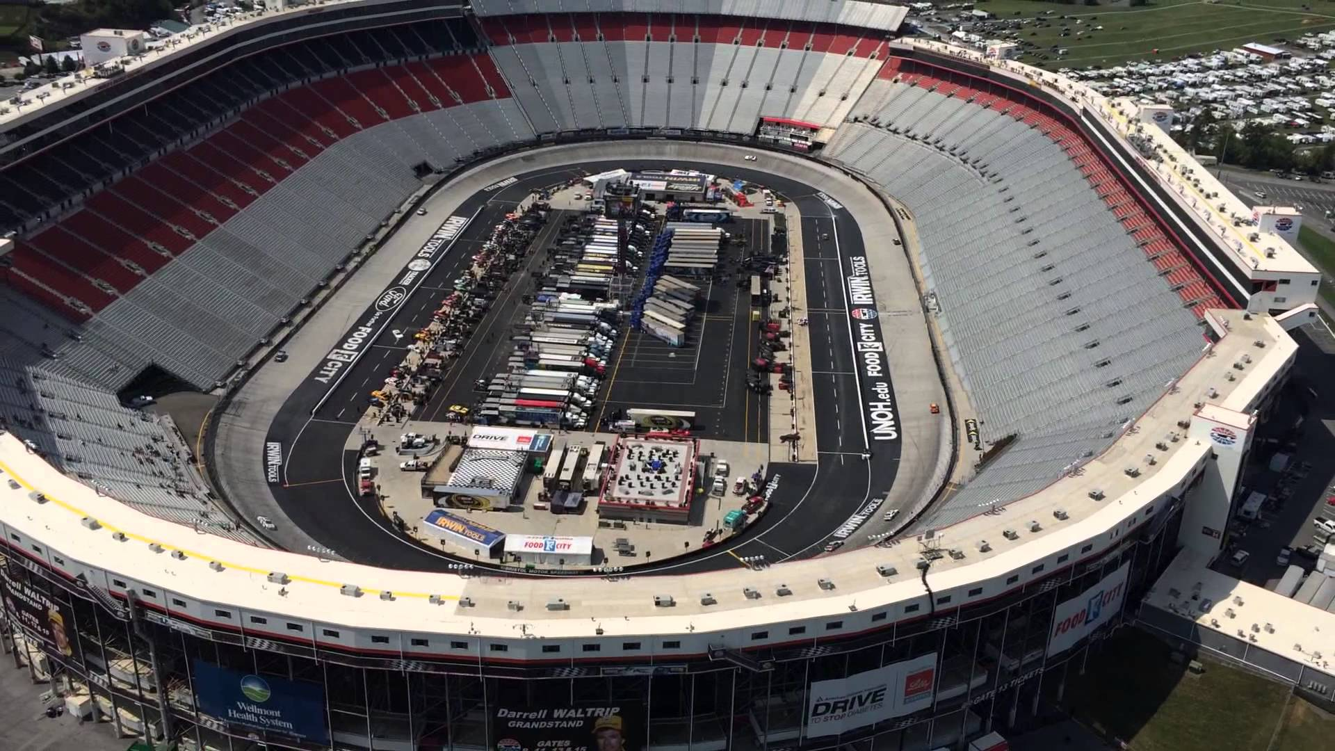 Bristol Motor Speedway Aerial Tour with Bell Helicopter | Nascars .