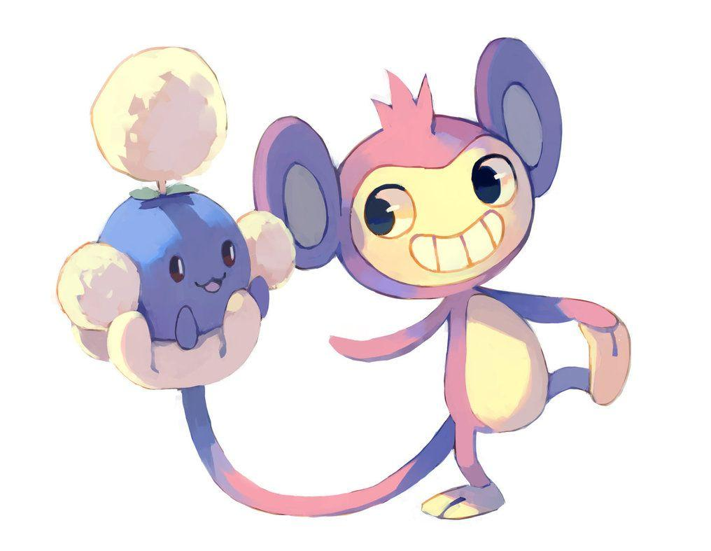 Aipom and Jumpluff by bluekomadori on DeviantArt