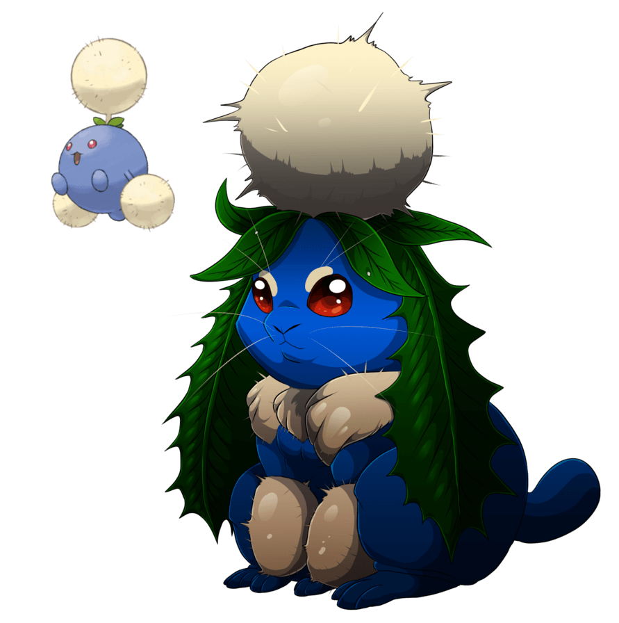 Jumpluff- The pluff bunneh by blueharuka on DeviantArt