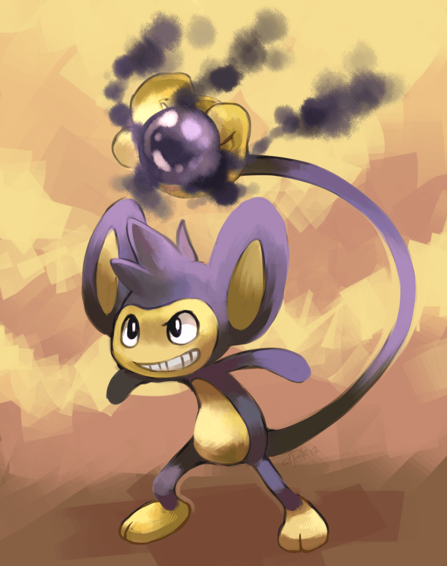 Aipom used Shadow Ball by yassui on DeviantArt