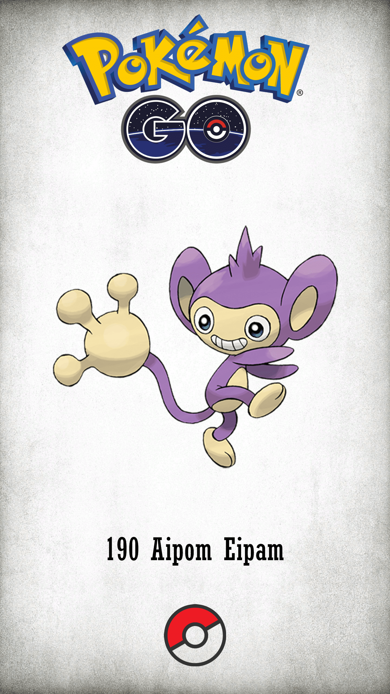 190 Character Aipom Eipam | Wallpaper