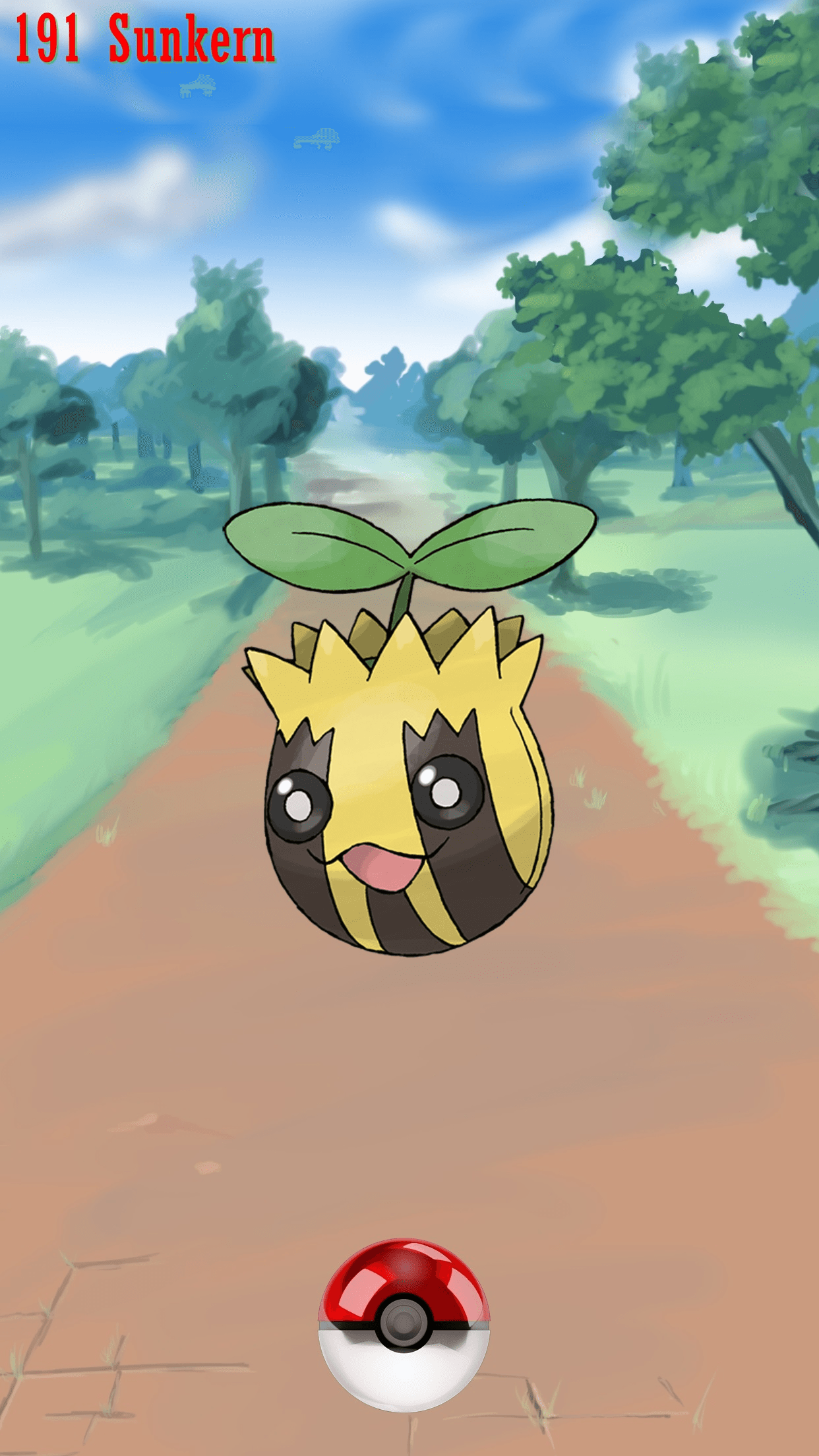 191 Street Pokeball Sunkern | Wallpaper