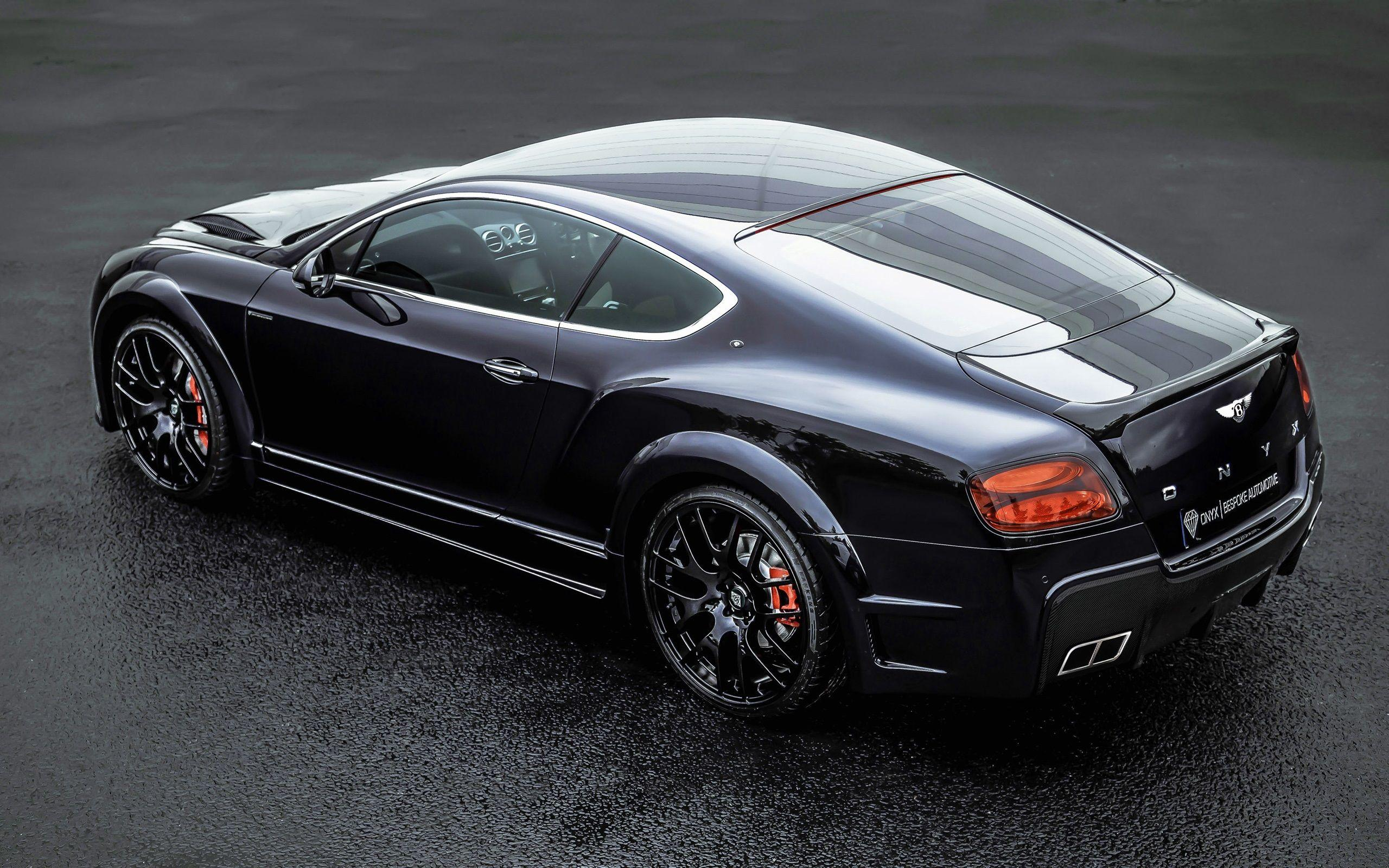 Bentley Continental GT ONYX black car back view wallpaper | cars ...