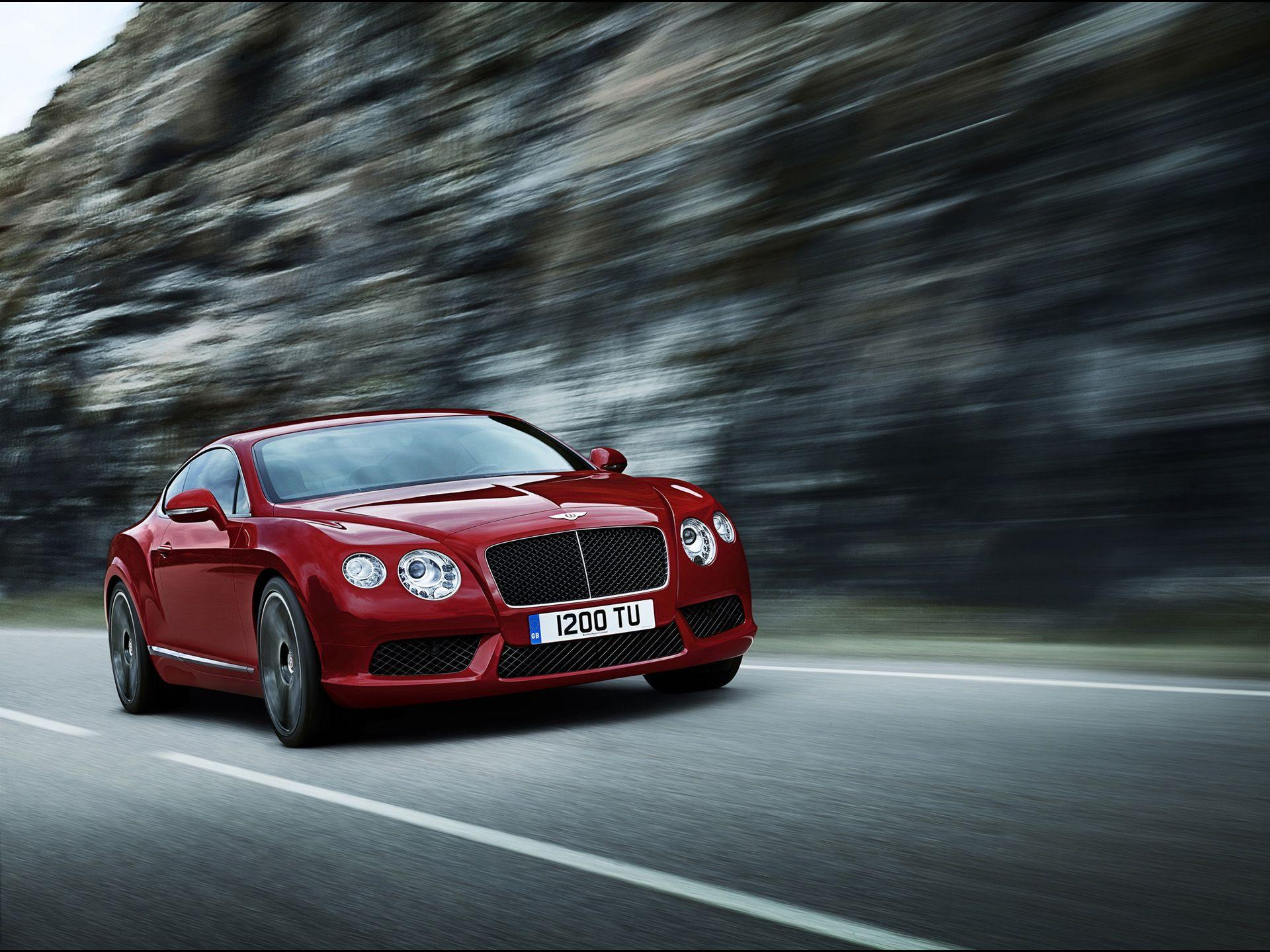 2012 Bentley Continental GT V8 - Red Front Angle Speed 2 ...