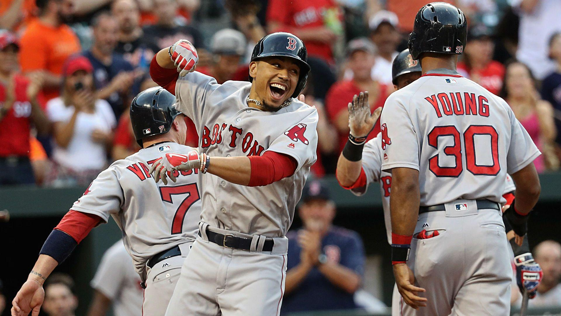Moments of Greatness: Mookie Betts slams three homers for Red Sox
