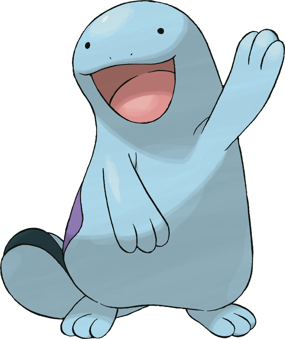 Quagsire has an awesome face. That's all there is to it. He's a ...