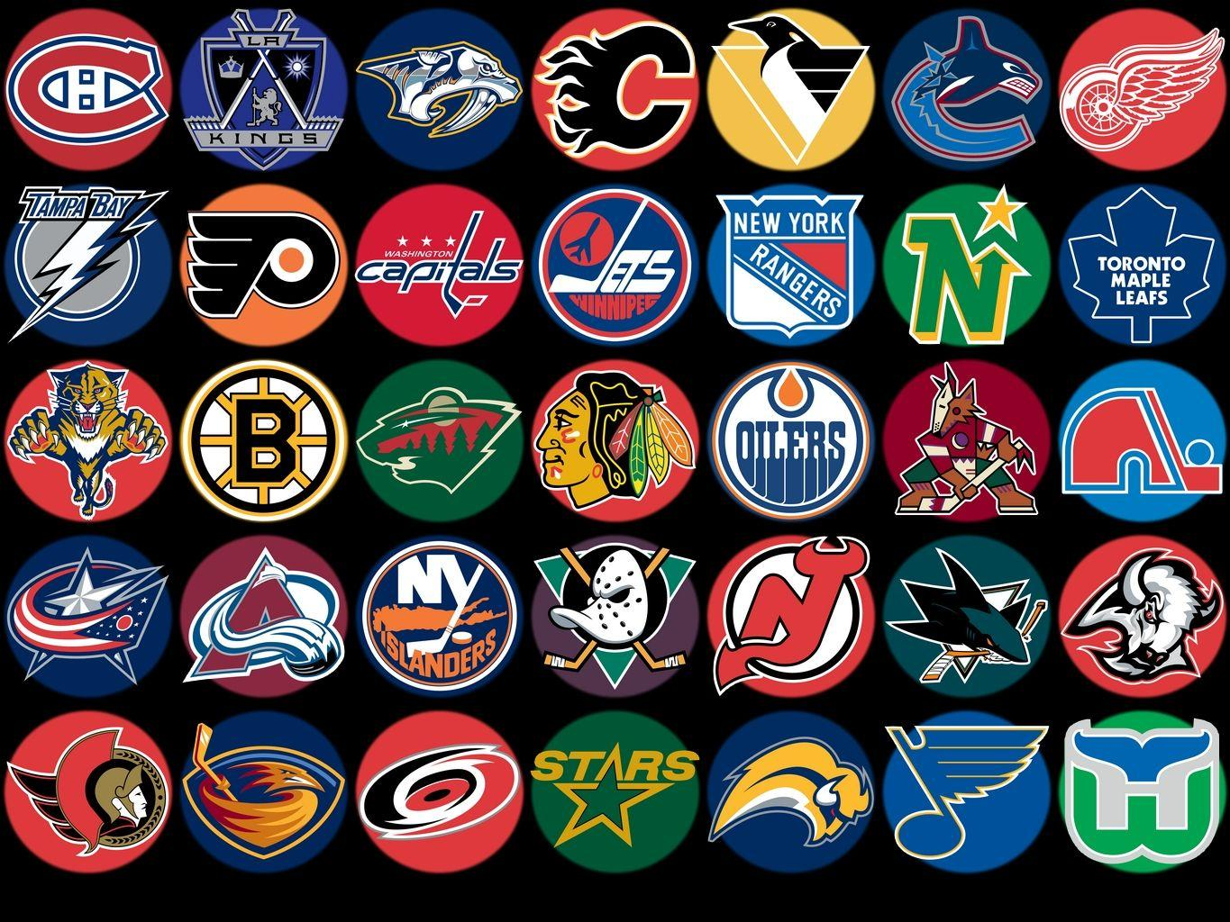 NHL Team Buttons