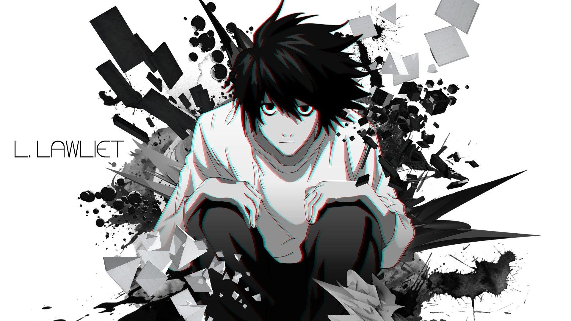 Cool Anime Death Note L Logo Wallpapers Wallpaper Cave