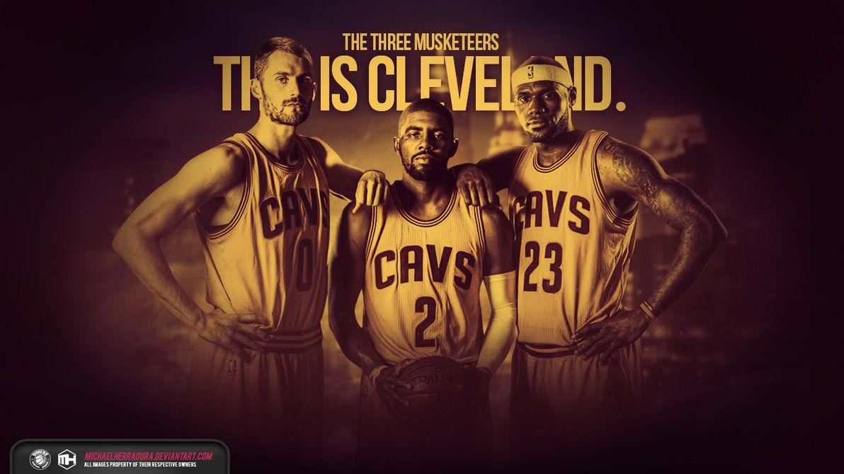 Cleveland Cavaliers The Three Musketeers Wallpaper By