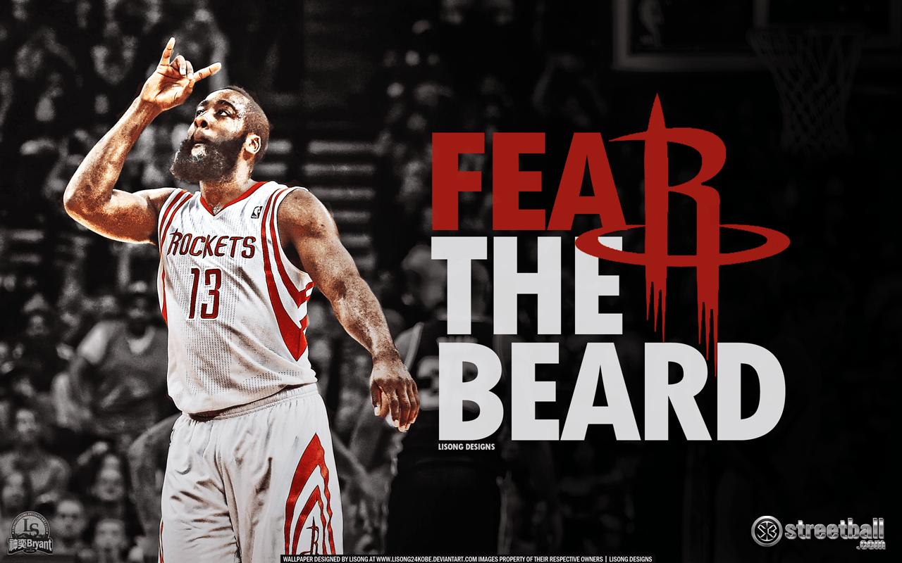 9eded316c99f Houston Rockets James Harden Fear the Beard Wallpaper