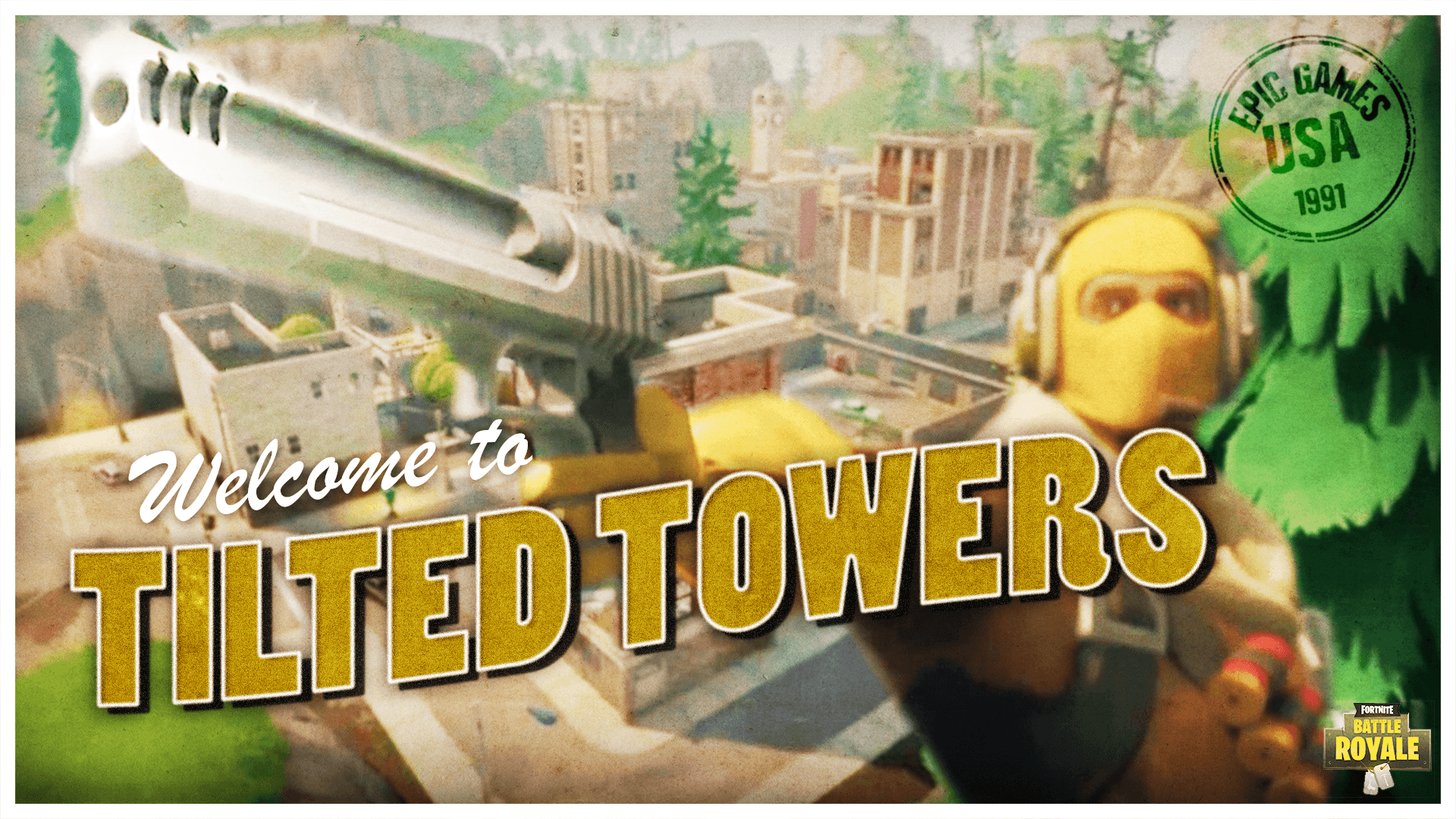 I made a Tilted Towers Post Card wallpapers 1080p
